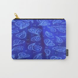 Blue Paisley Carry-All Pouch