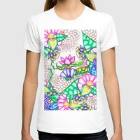 preppy T-shirts featuring Bright modern botanical preppy floral watercolor by Girly Trend