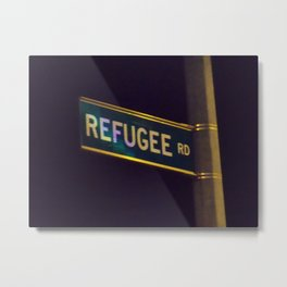 Refugee Street Sign Metal Print