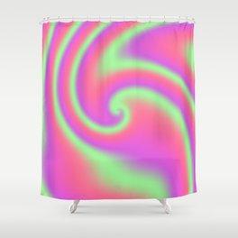 Tutti Frutti Ribbon Candy Fractal Shower Curtain