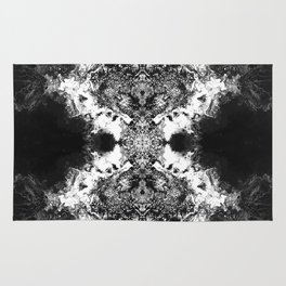 Black Gatria- Abstract Costellation Painting. Rug