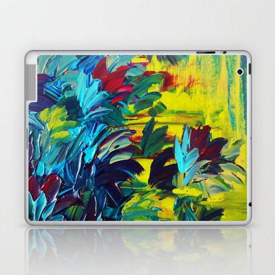 FLORA - Gorgeous Lemon Lime Citrine Chartreuse Floral Bouquet Garden Flowers Colorful Nature Beauty Laptop & iPad Skin