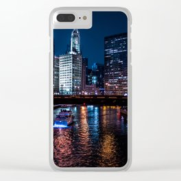 Chicago River Clear iPhone Case