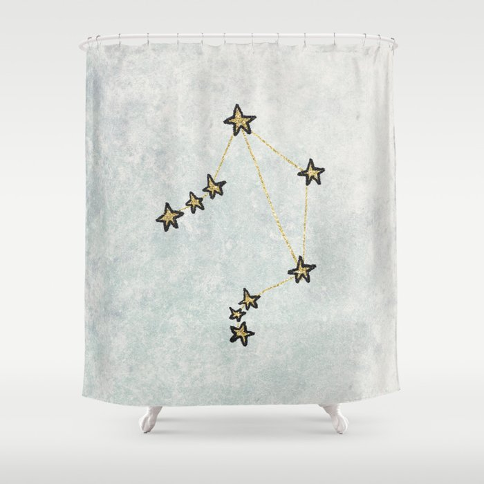 Libra X Astrology Zodiac Shower Curtain