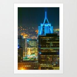 Pittsburgh Pennsylvania City Night Print Art Print