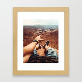 on top of canyonalnds Framed Art Print