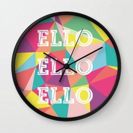 Happy Geometric Wall Clock