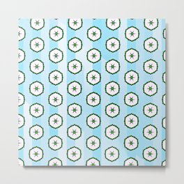Retro Holiday Wallpaper Metal Print