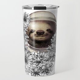 unique and exclusive sloth bear astronaut Travel Mug