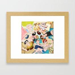 GOT7 Chibi Art Cute Framed Art Print