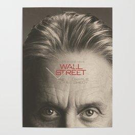Wall Street, alternative movie poster, Gordon Gekko, Oliver Stone, film, minimal fine art playbill Poster
