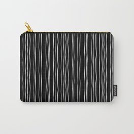 Wide Black Stripe Carry-All Pouch