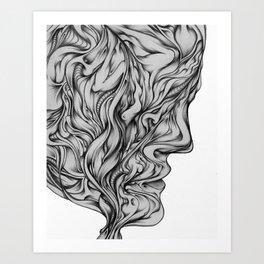 something on your mind? Art Print