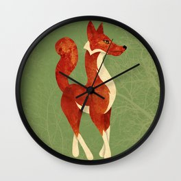 Foxing Around Wall Clock