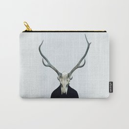 Living Skull and Horns Carry-All Pouch