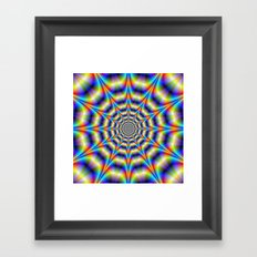 Psychedelic Wheel Framed Art Print