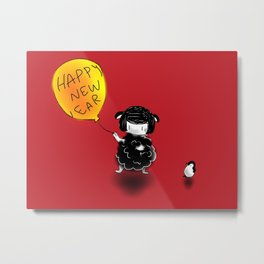 Happy New Ear of the Goat! Metal Print