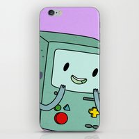 bmo iPhone & iPod Skins featuring BMO by Kyrsten Carlson