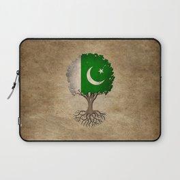 Vintage Tree of Life with Flag of Pakistan Laptop Sleeve