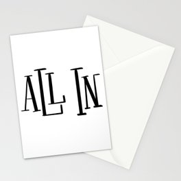 All In: white Stationery Cards