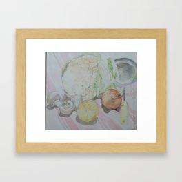Vegetable kitchen ingredients Framed Art Print