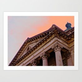 Courthouse Morning Art Print