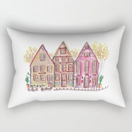 Coloured houses II Rectangular Pillow