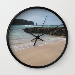 Sandwood Bay with Sea Stack Wall Clock