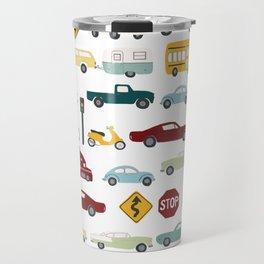 Beep Beep! Cars and Trucks Traffic Pattern Travel Mug
