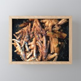 Frying Chicken Feet Framed Mini Art Print