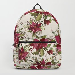 Poinsettia Pattern Backpack