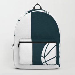 Basketball spinning on a finger Backpack