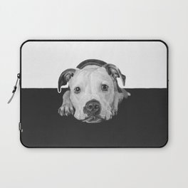 """Black and white puppers """"Cuddly"""" Laptop Sleeve"""