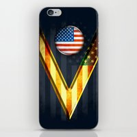 american iPhone & iPod Skins featuring American by ilustrarte