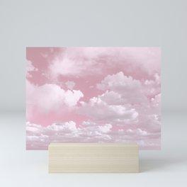Clouds in a Pink Sky Mini Art Print