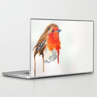 robin Laptop & iPad Skins featuring Robin by Paint the Moment
