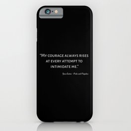 Pride and Prejudice Quote I iPhone Case