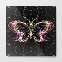 Radiant lighting butterfly Metal Print