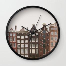 Amsterdam Crooked Row Wall Clock