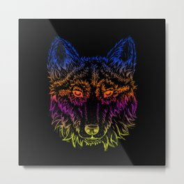 Wolf in the Night Metal Print