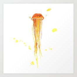 Tangerine Squishy Art Print