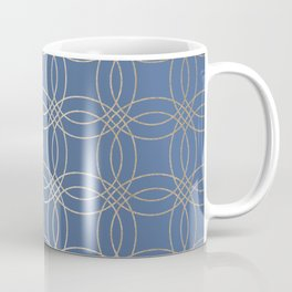 Simply Vintage Link in White Gold Sands and Aegean Blue Coffee Mug