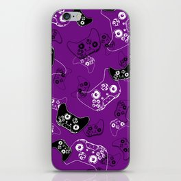 Video Game Purple iPhone Skin