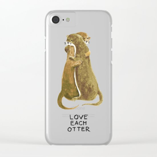 Love each otter Clear iPhone Case