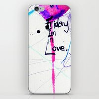 friday iPhone & iPod Skins featuring Friday by Holly Sharpe