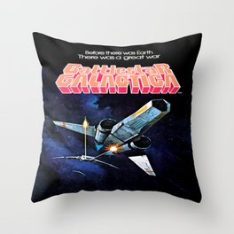 Vintage Battlestar Galactica Throw Pillow