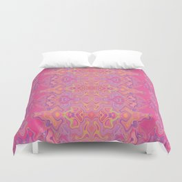Mad pink marble 1 Duvet Cover