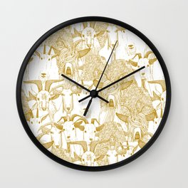 just goats gold Wall Clock