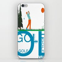 golf iPhone & iPod Skins featuring Golf, golf, golf! by South43