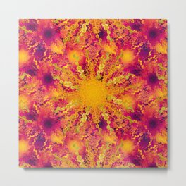 Summer Heat gold green sun Metal Print